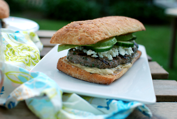 Herby Lamb Burgers with Feta and Avocado - The Food in My ...