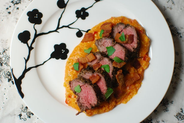 ... and went great with the smokey polenta Bacon was a crucial accent