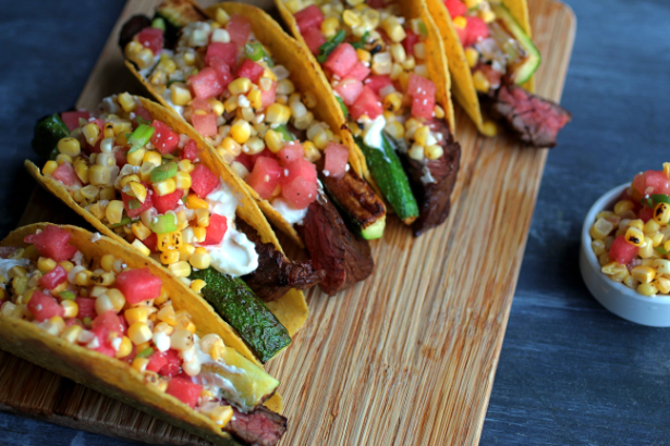 Slice Them Against The Grain And Pop Them Into The Taco Shells With The  Zucchini.