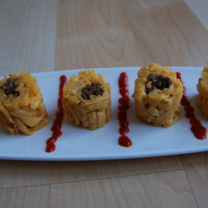 Mac and Cheese Sushi Roll