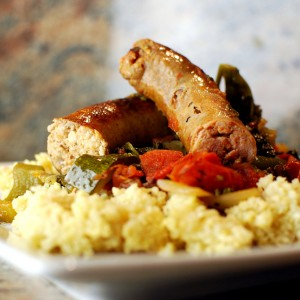 Braised Sausage and Millet