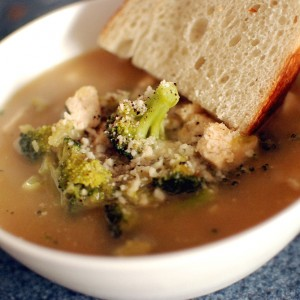 Chicken Broccoli Ziti Soup