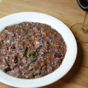 Short Rib Wine Risotto