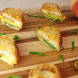 Peach Sausage Grilled Cheese