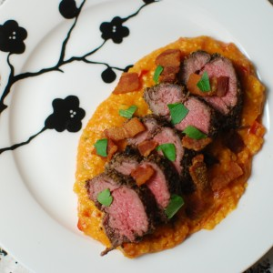 Lamb Tenderloin with Polenta