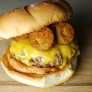 Fried Jalapeno Burger