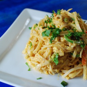 Sweet Potato Almond Noodles