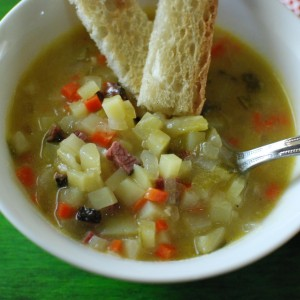 Pastrami Pickle Soup
