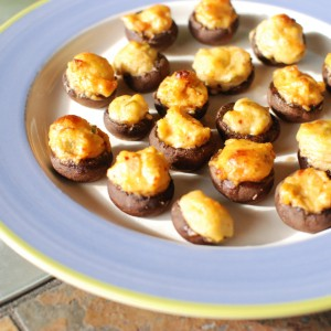 Spicy Polenta Mushrooms