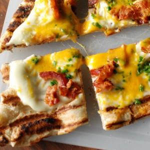 Grilled Potato Pizza