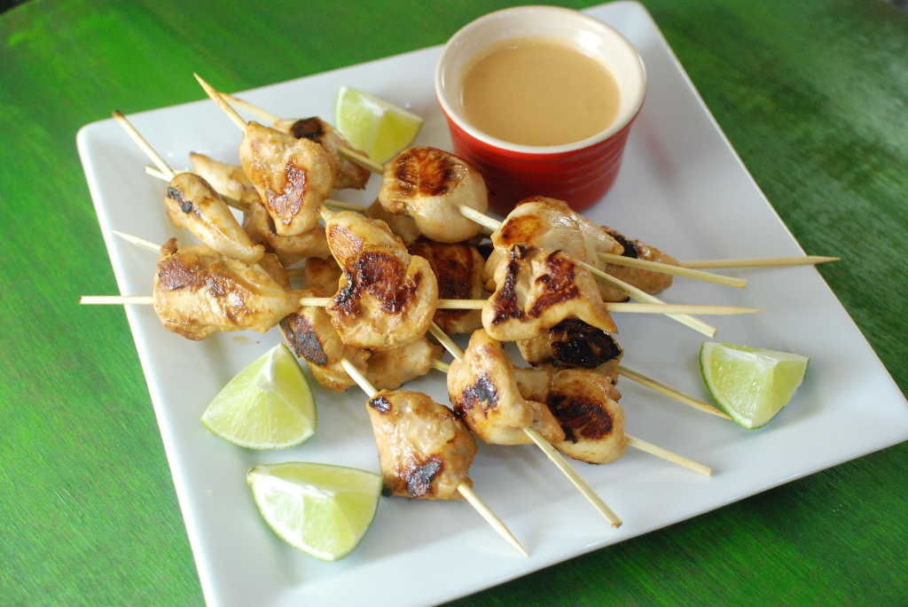how to make satay skewers