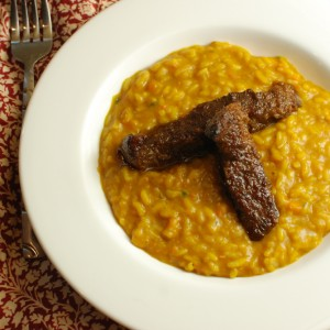 Squash Risotto Braised Flank