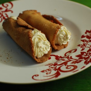 Egg Nog Cannoli