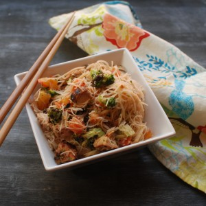 BBQ Chicken Rice Noodles