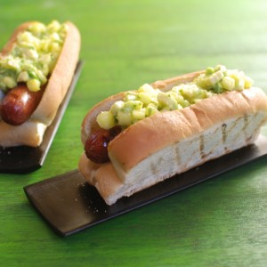 Pineapple Salsa Dogs