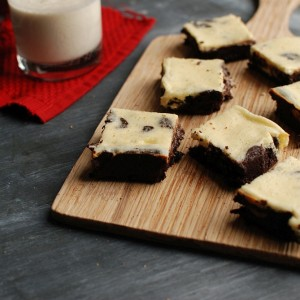Egg Nog Mocha Brownies