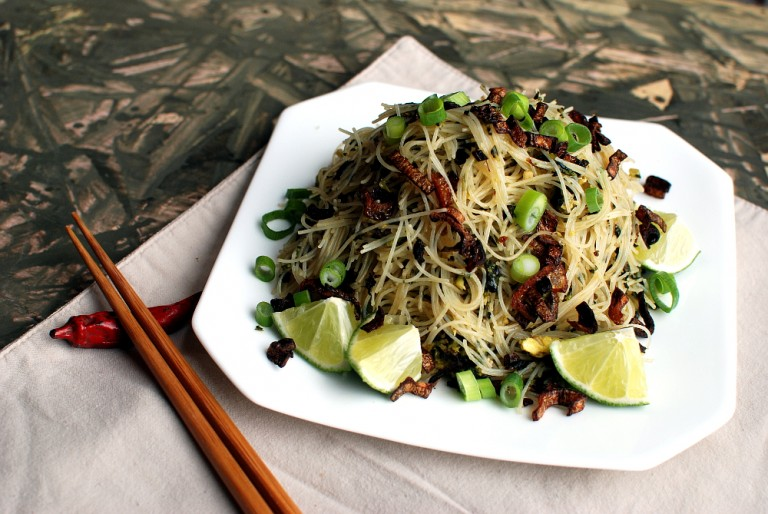 Broccoli and Kale Street Noodles