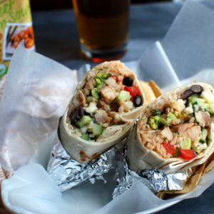 Sweet and Sour Chicken and Broccoli Burritos