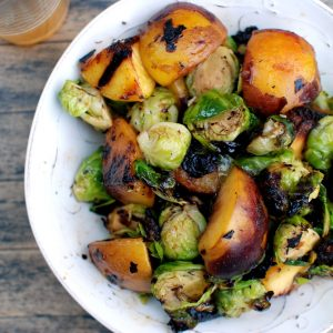Brussel Sprouts and Peaches