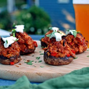 Pulled Pork Stuffed Mushrooms