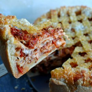 Lasagna Deep Dish Pizza