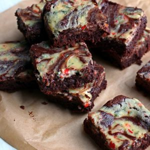 Chile Basil Ricotta Brownies