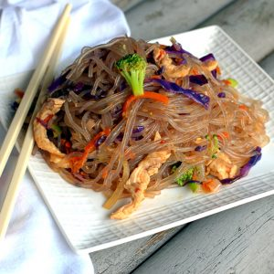 Turkey Broccoli Japchae