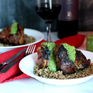 Lamb Loin Chop with Quinoa Risotto