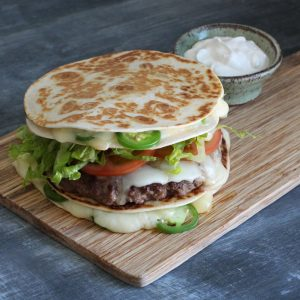 Quesadilla Bun Burger