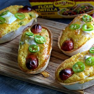 Corn Dog Taco Boats