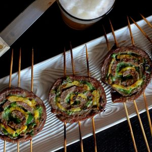Pineapple Flank Steak Pinwheels