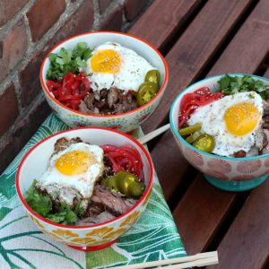 Skirt Steak Rice Bowls