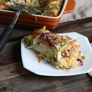 Shrimp and Grits Enchiladas