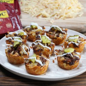 Bacon Jalapeno Cheeseburger Tot Cups