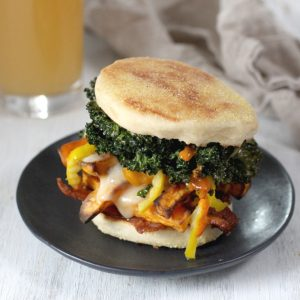 Bacon Sweet Potato Kale Sandwich