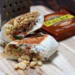Carnitas Mac and Cheese Burrito