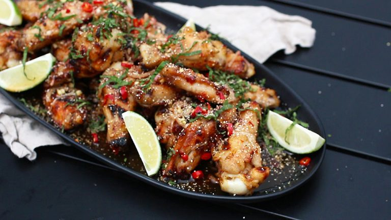 Thai Larb Style Grilled Chicken Wings