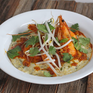 Laksa Shrimp and Grits
