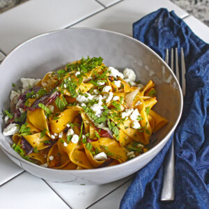 Sweet Potato Tagliatelle with Radicchio