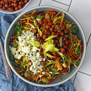Buffalo Chickpea Kale Salad