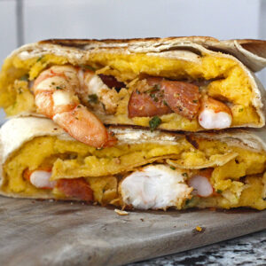 Shrimp and Grits Crunch Wrap