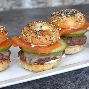 Bagel Burger Sliders