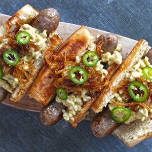 Sausage with Cheesy Spaetzle