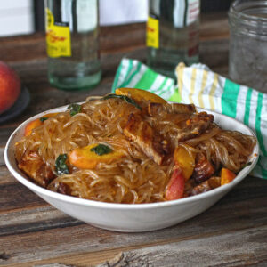 Peach and Pork Belly Glass Noodles