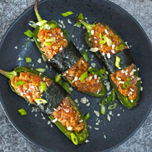 Spicy Tuna Jalapeno Poppers